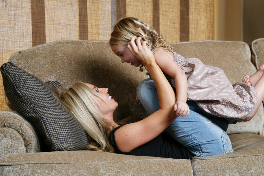 woman with child on couch (1)